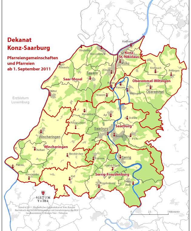 Bistum Trier Karte.Pfarreienverzeichnis
